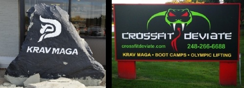 Two of only a small handful of places to learn Krav Maga in the Detroit Area - Krav Maga Detroit in Troy, and Crossfit Deviate in Troy and Rochester